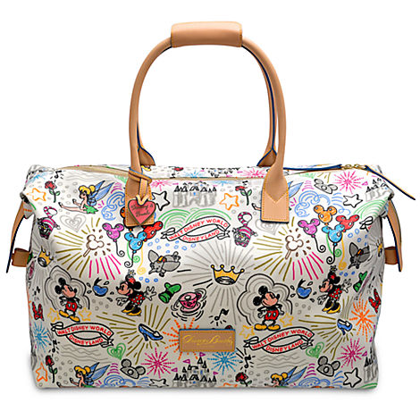 Disney Sketch Dooney Bourke Weekender Large Duffle Bag Weekend