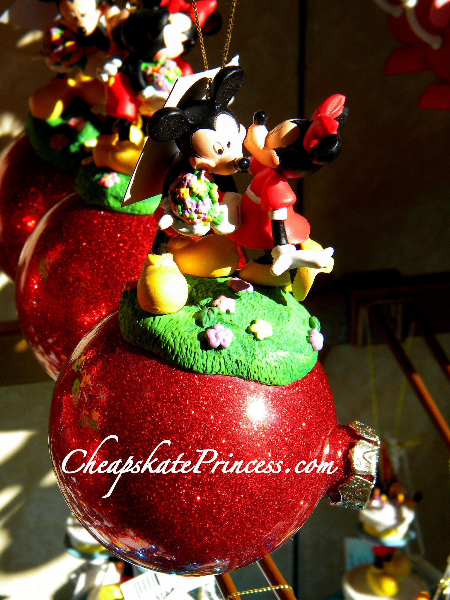 mickey minnie mouse christmas mickey minnie ornament