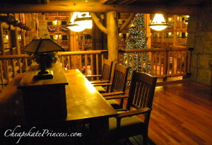 upstairs seating at Wilderness Lodge, secret spot at Wilderness Lodge