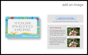 how to personalize a Disney gift card, order a Disney gift card