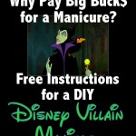 FREE Instructions for a Disney Villain Manicure