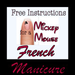 Easy DIY Mickey Mouse French Manicure Instructions for a Cheapskate Princess