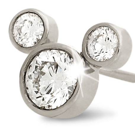 Mickey Mouse Diamond Earrings