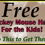 To Get FREE Mickey Mouse Kid's Hats, Do This!