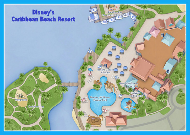 Disney S Caribbean Beach Resort Map The Best Beaches In World