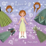 For Your Princesses…Free Disney Inspired Paper Dolls!