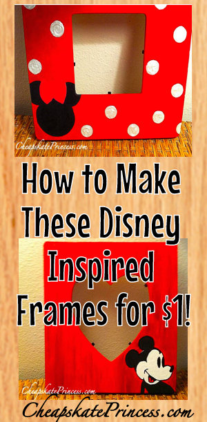 Mickey Mouse picture frames, Disney crafts