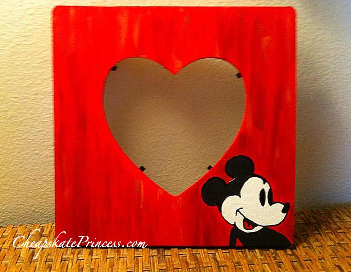 Mickey Mouse Picture Frame Craft