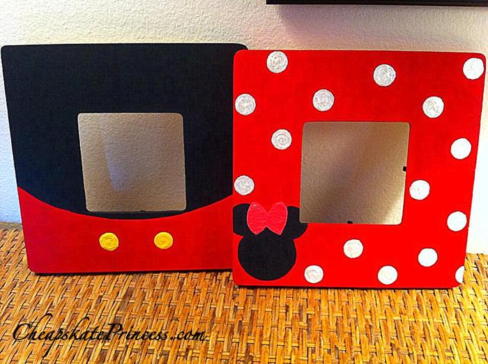 Mickey And Minnie Picture Frames Disneys Cheapskate Princess