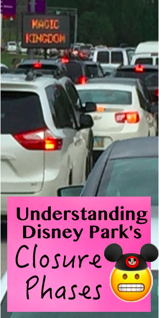Disney World traffic jam at Christmas