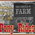 Disney World 4 Le$$: Pony Rides Under $10
