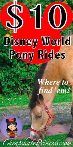 Disney World vacation, Disney World pony rides, cheap at Disney World
