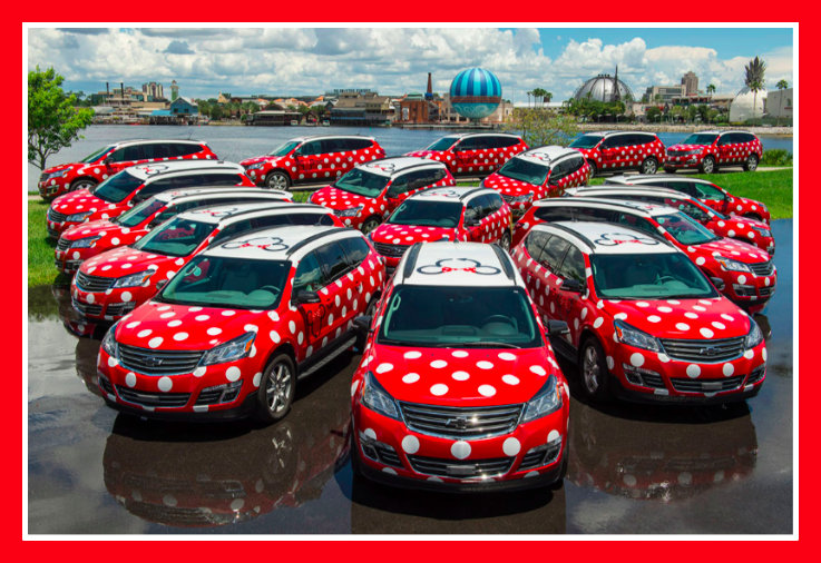 different types of Minnie Vans available at Disney World