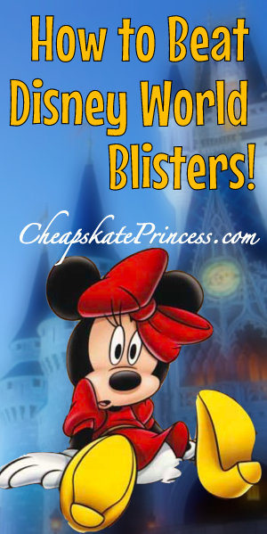 Minnis mouse with blisters at Disney World