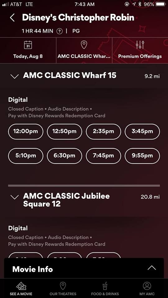 AMC Stubs A-List phone reservations