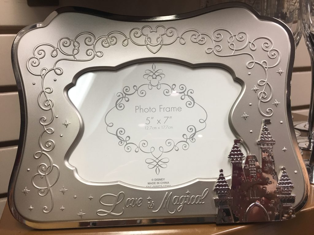 Disney World wedding picture frame